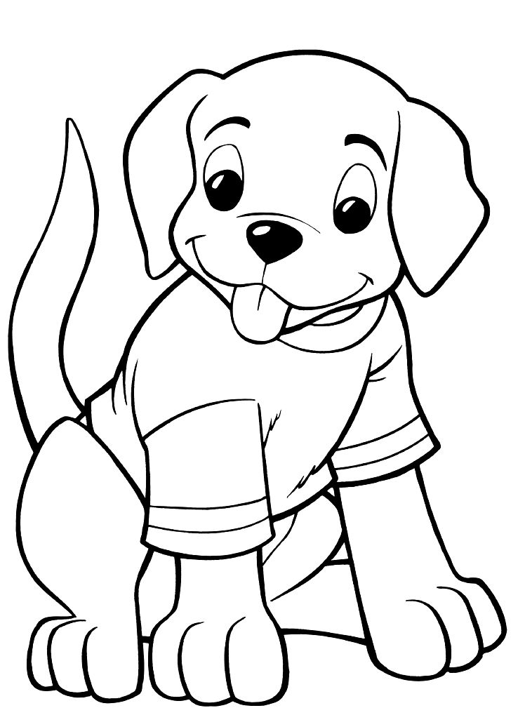 childrens coloring pages with puppies - photo#14