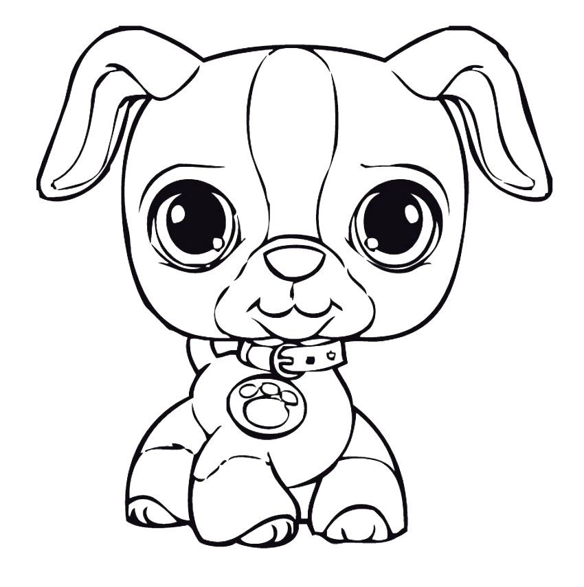 Puppy Coloring Page Printables