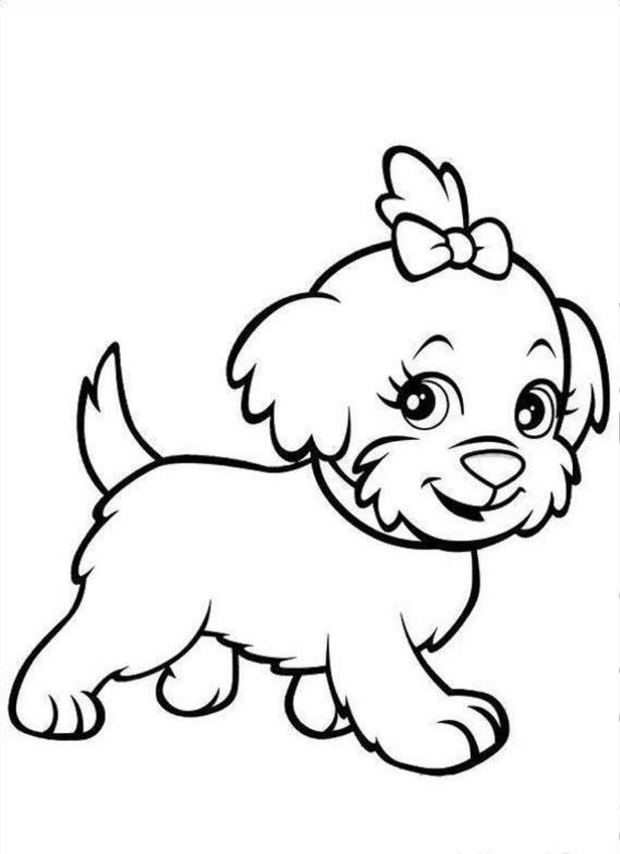 childrens coloring pages with puppies - photo#1