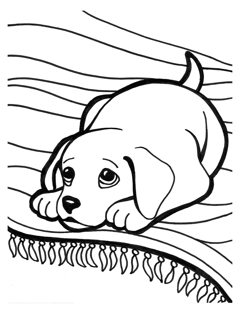 Puppy coloring pages best coloring pages for kids for Coloring pages that are cute