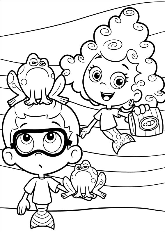 Bubble Guppies Coloring Page Printable