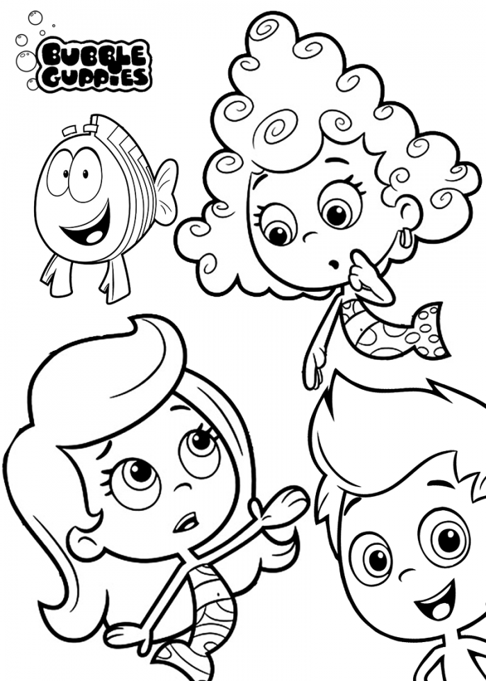 Bubble Puppy Coloring Page