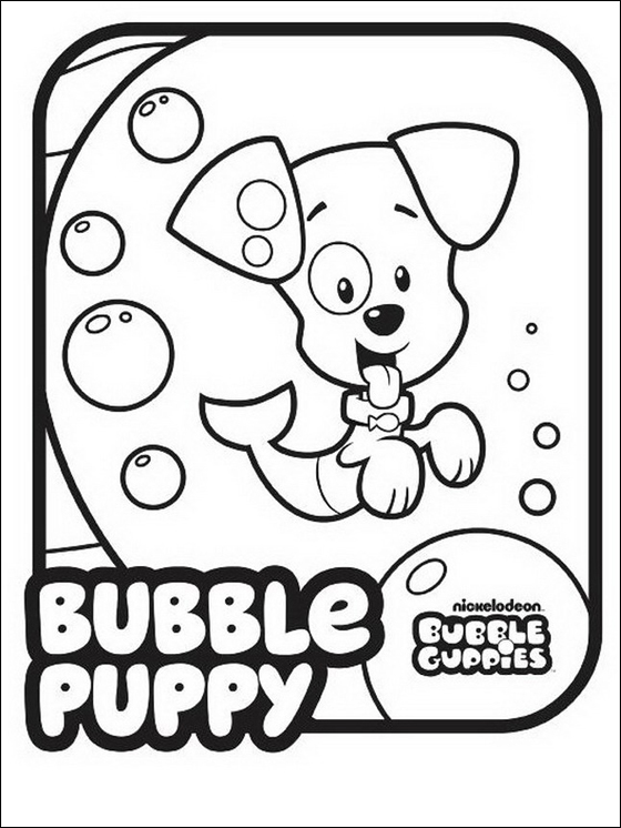 Bubble Guppies Coloring Pages - Bubble Puppy