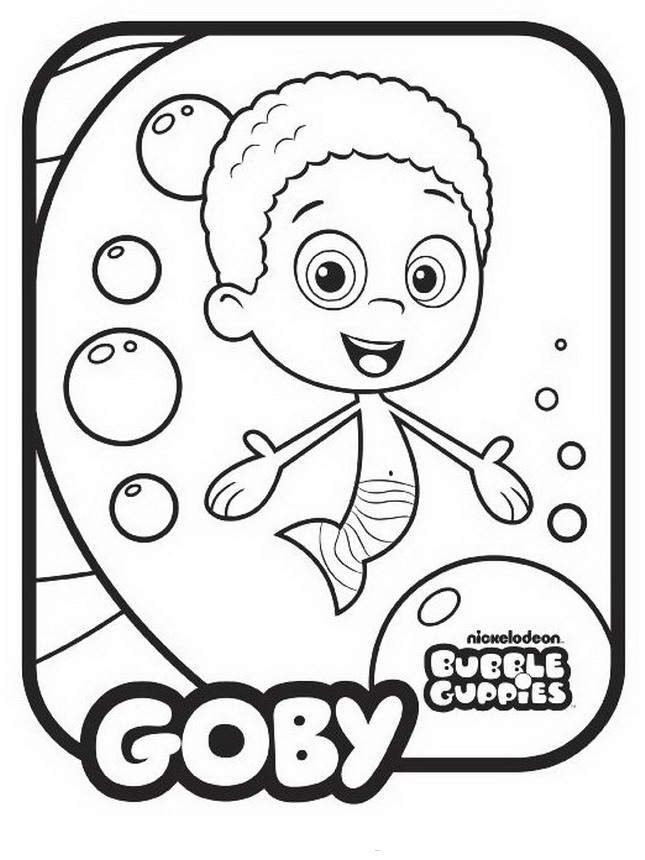 Bubble Guppies Coloring Pages - Goby