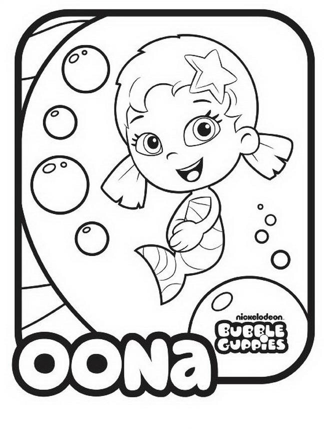 Bubble Guppies Coloring Pages - Oona