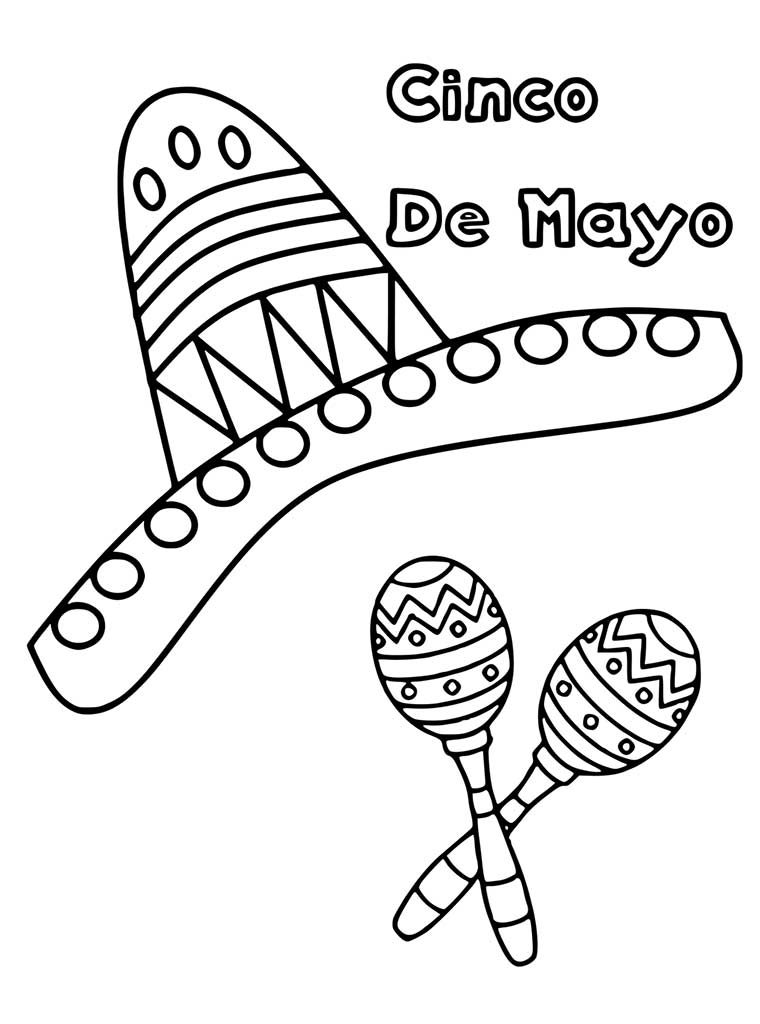 Cinco de Mayo Coloring Worksheet