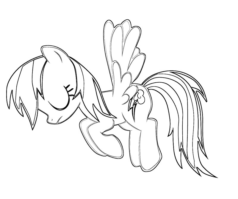 Coloring Pages Rainbow Dash : Rainbow dash coloring pages best for kids