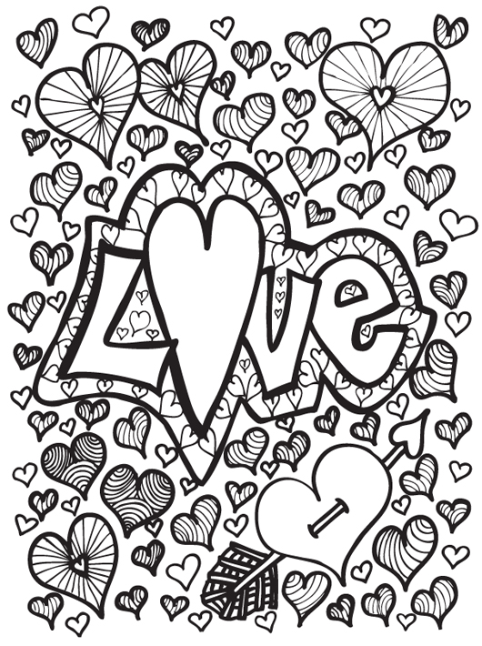 coloring pages for teens free printables - Heart Coloring Pages For Teenagers