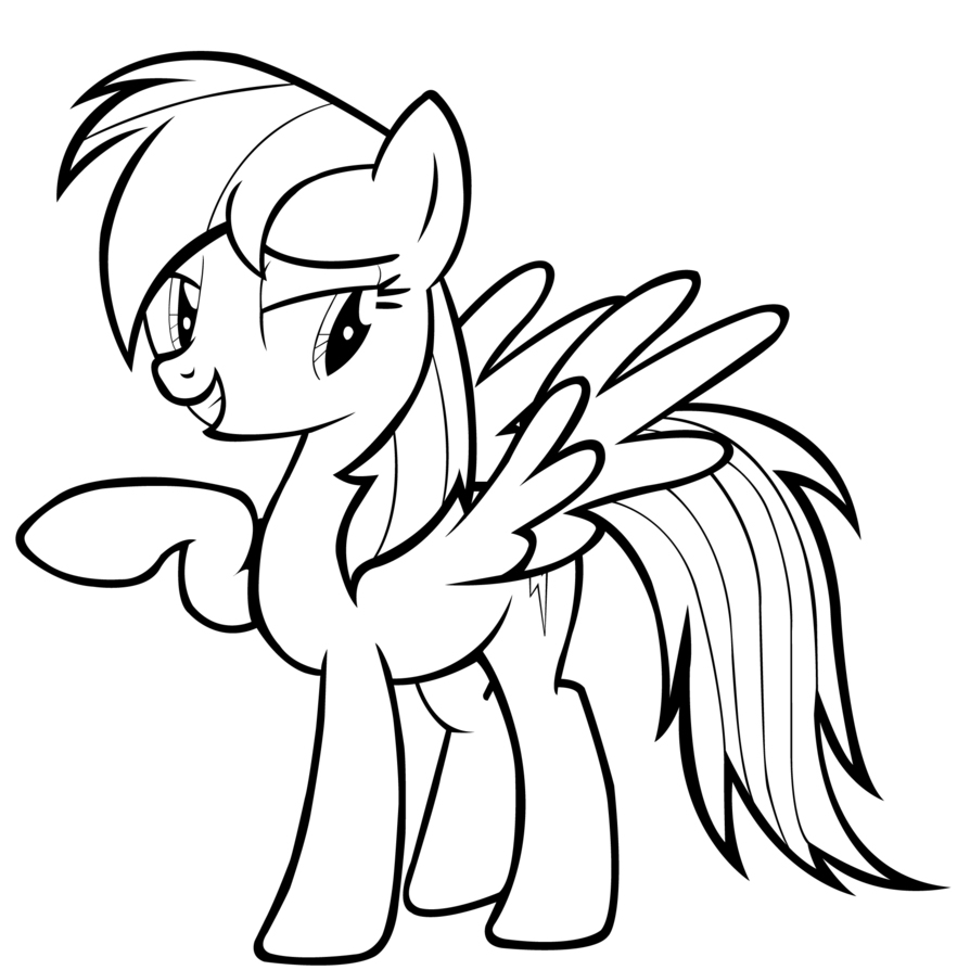 Line Drawing Rainbow : Rainbow dash coloring pages best for kids