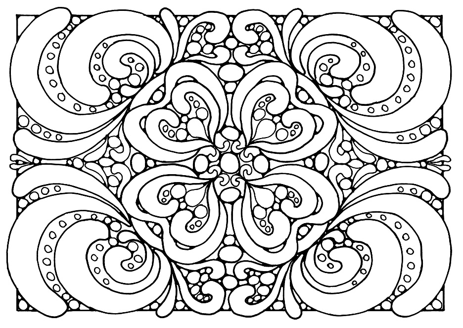 flourish coloring pages for teens - Free Printable Coloring Pages