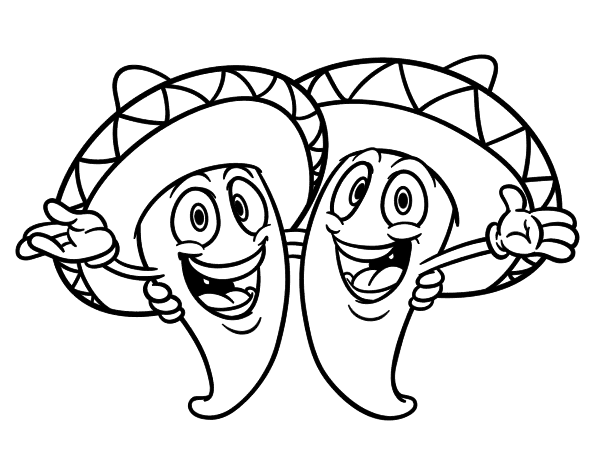 Free Cinco de Mayo Coloring Page Printable
