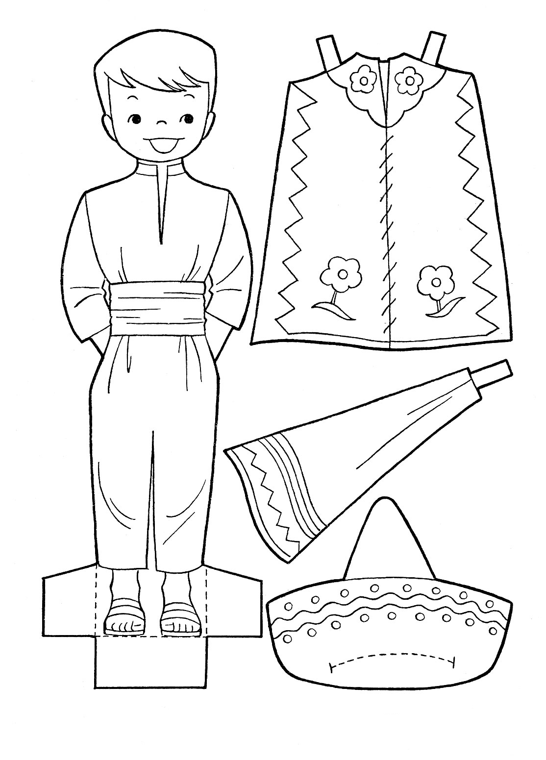 Coloring pages cinco de mayo