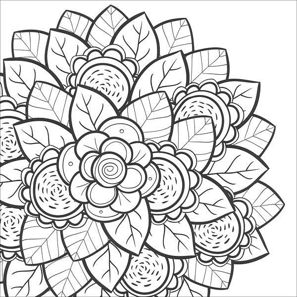 free flower coloring pages for teens - Teen Color Pages