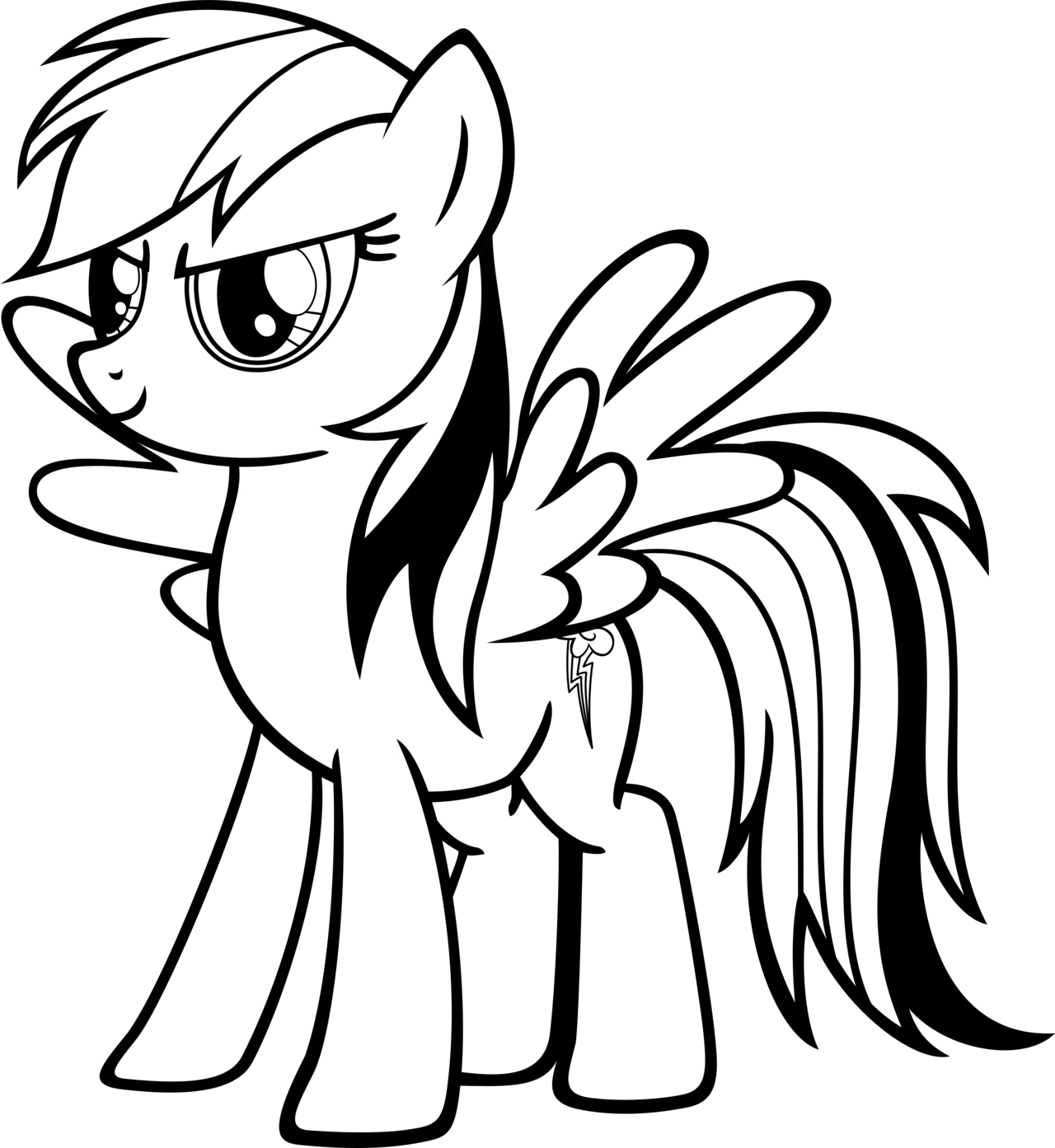 Rainbow dash coloring pages best coloring pages for kids for Free printable cartoon coloring pages