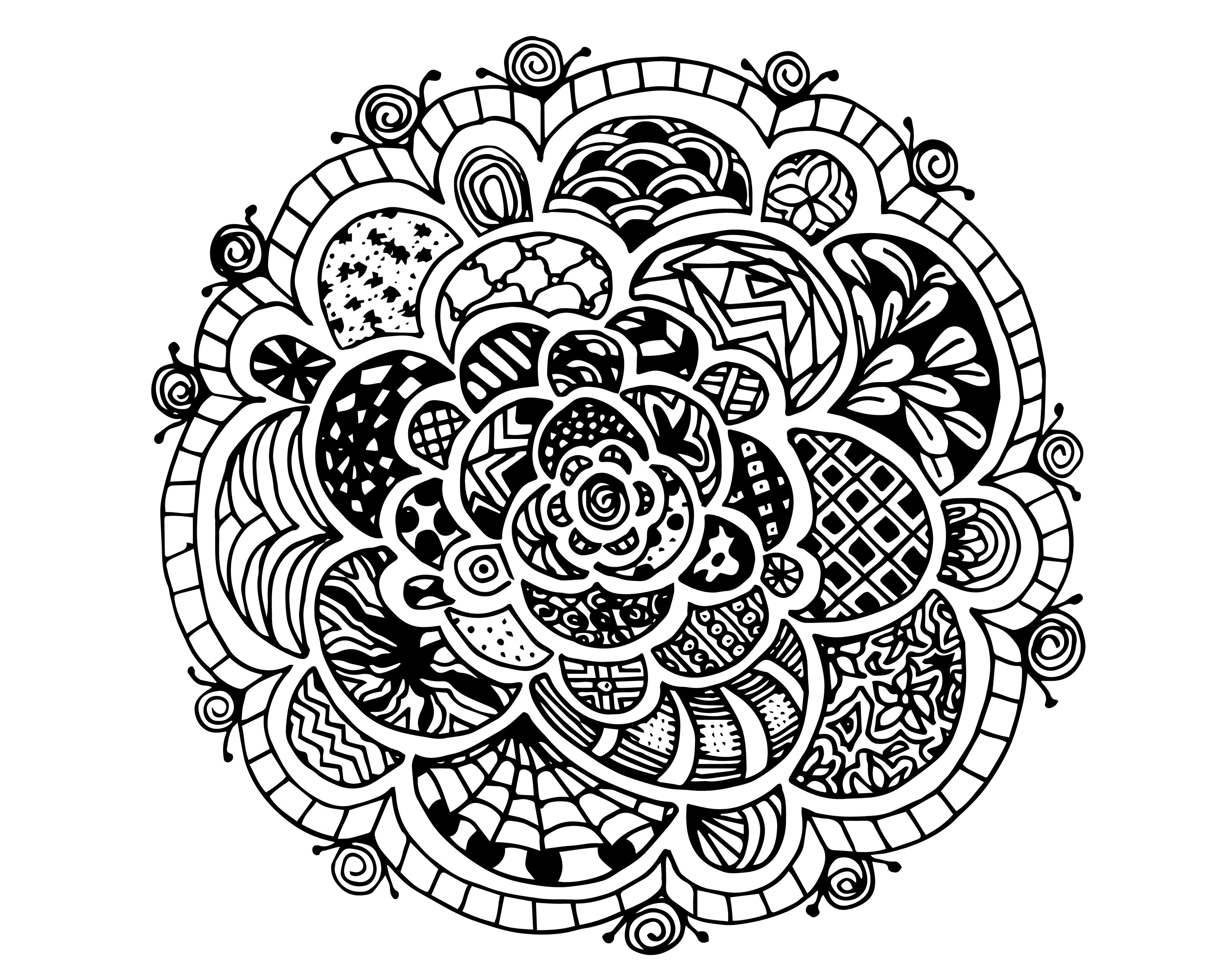 Colouring sheets hard - Hard Coloring Pages For Teens