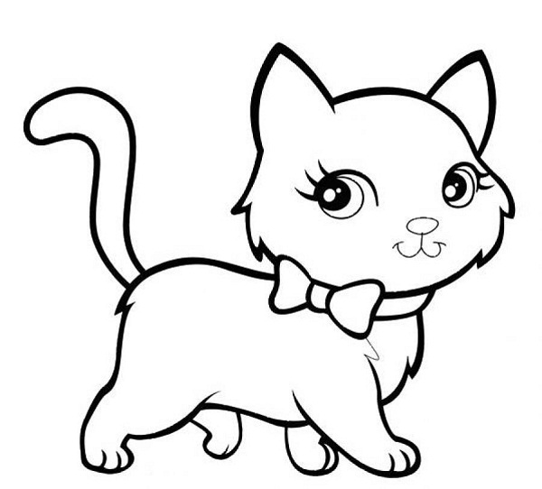 kitten printout coloring pages - photo#26
