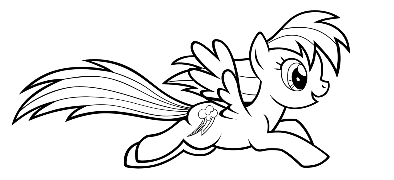 my little pony rainbow dash coloring pages - Rainbow Dash Coloring Page