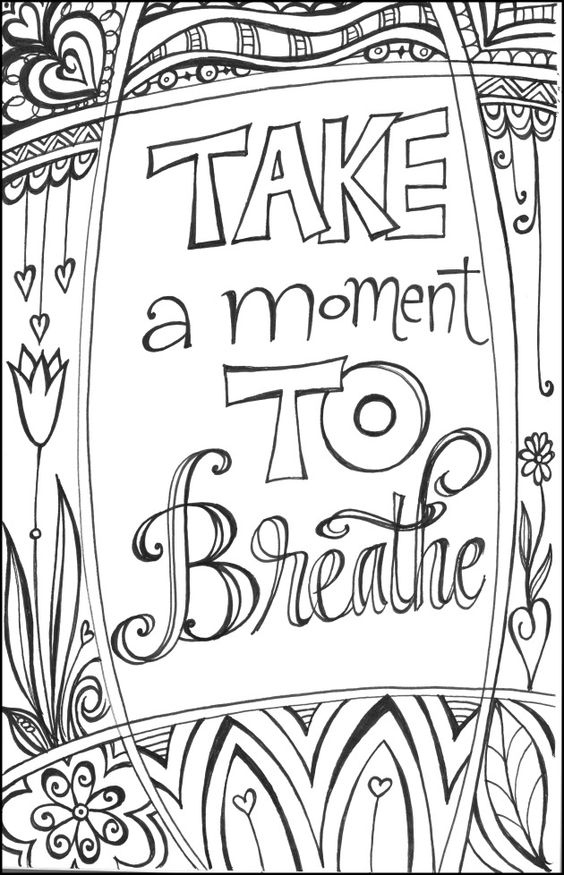 Bright image in free printable coloring pages for teens