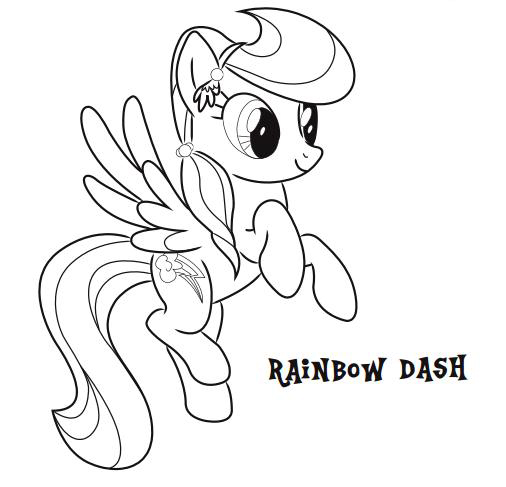 Print Rainbow Dash Coloring Pages