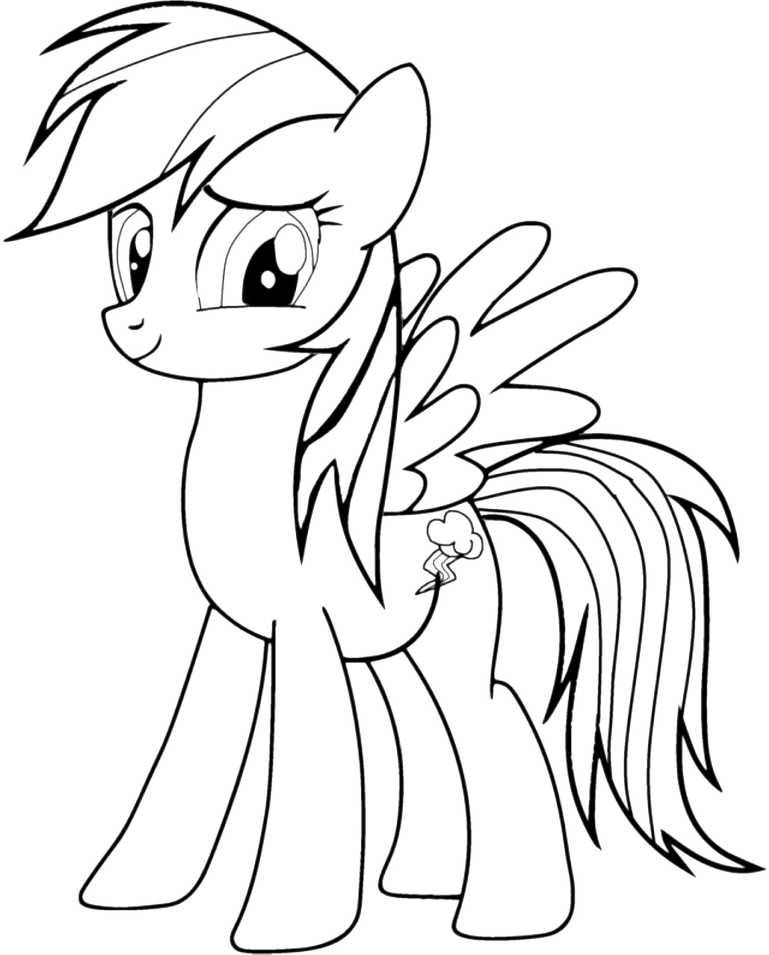rainbow dash coloring pages printable - Rainbow Dash Coloring Page