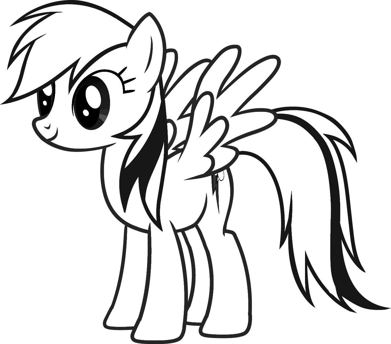 Rainbow Dash Coloring Pages Printable