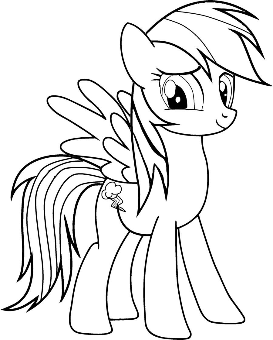 rainbow dash coloring pages - Rainbow Dash Coloring Page