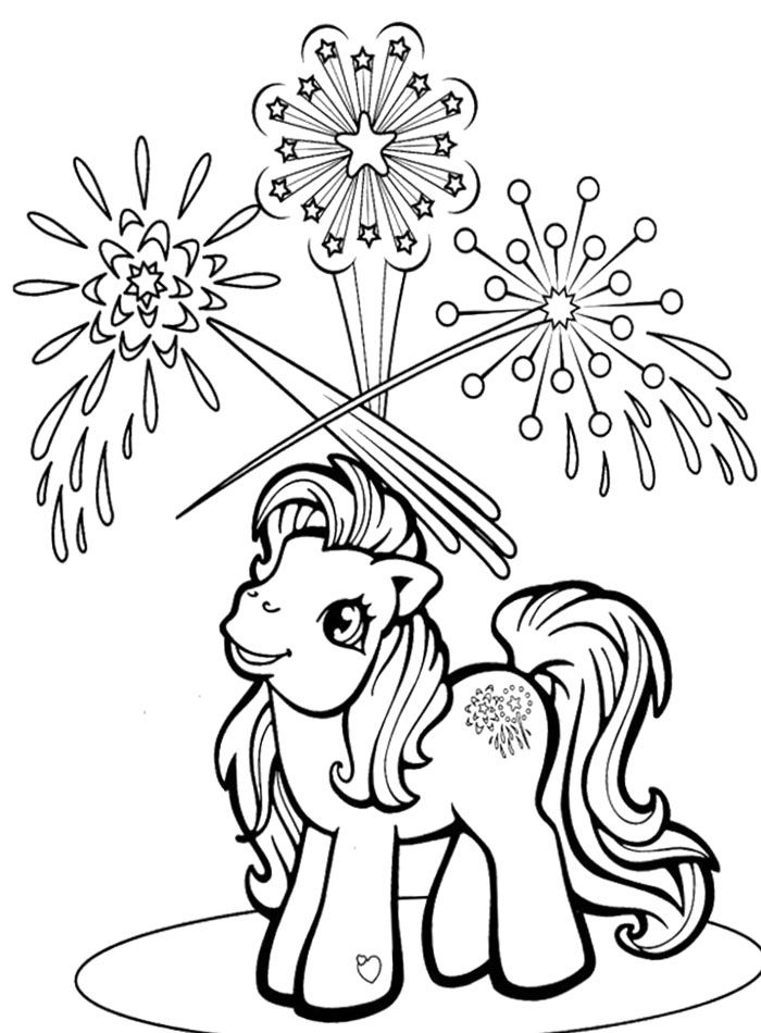 4th of July Coloring Pages My Little Pony