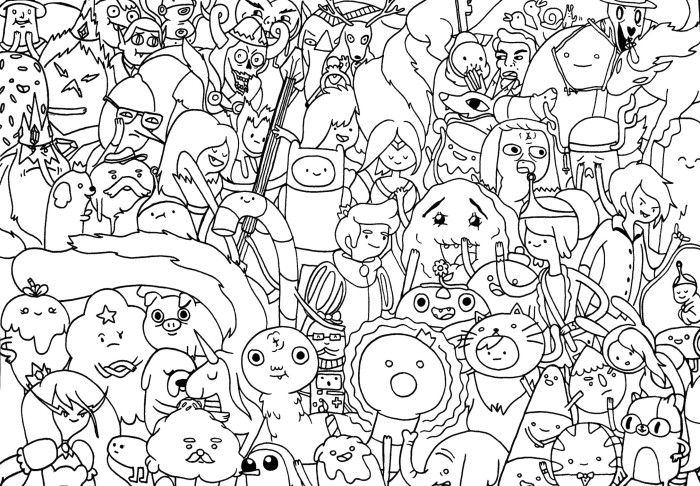 adventure time characters coloring pages - photo#1