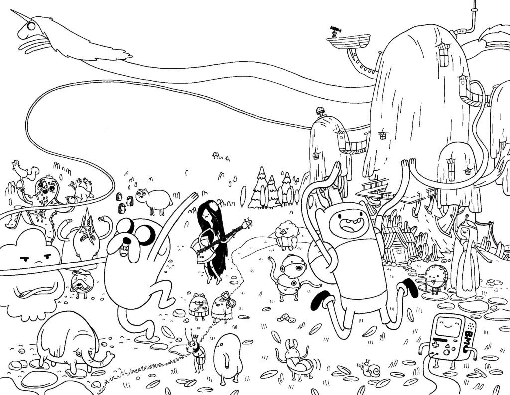 Adventure Time Coloring Pages Finn and Jake Long Fistbump