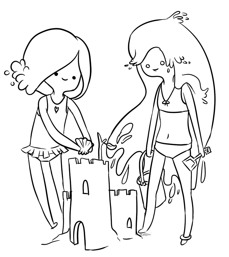 Adventure Time Coloring Pages Marceline