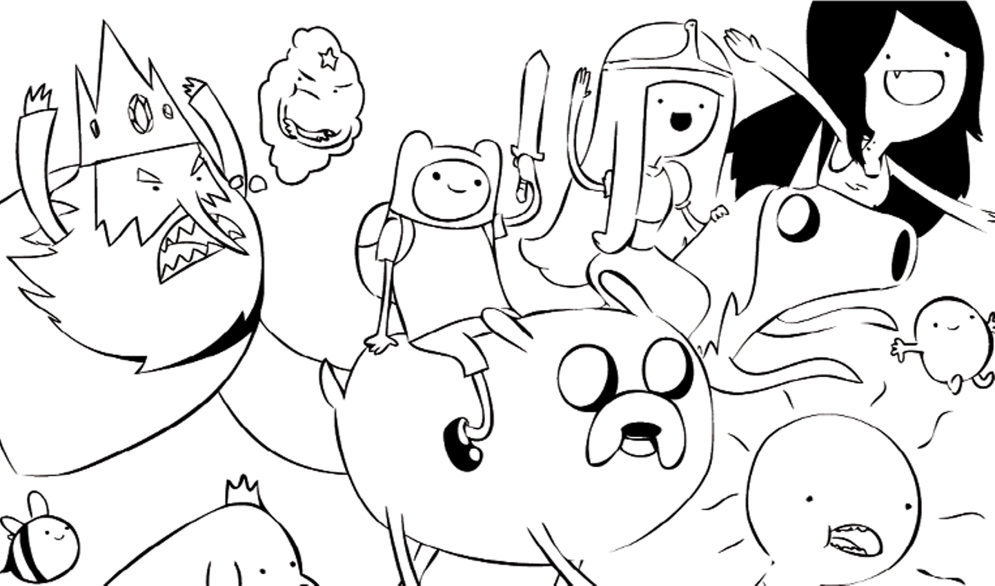 adventure time coloring pages printable - Cartoon Coloring Pages Printables