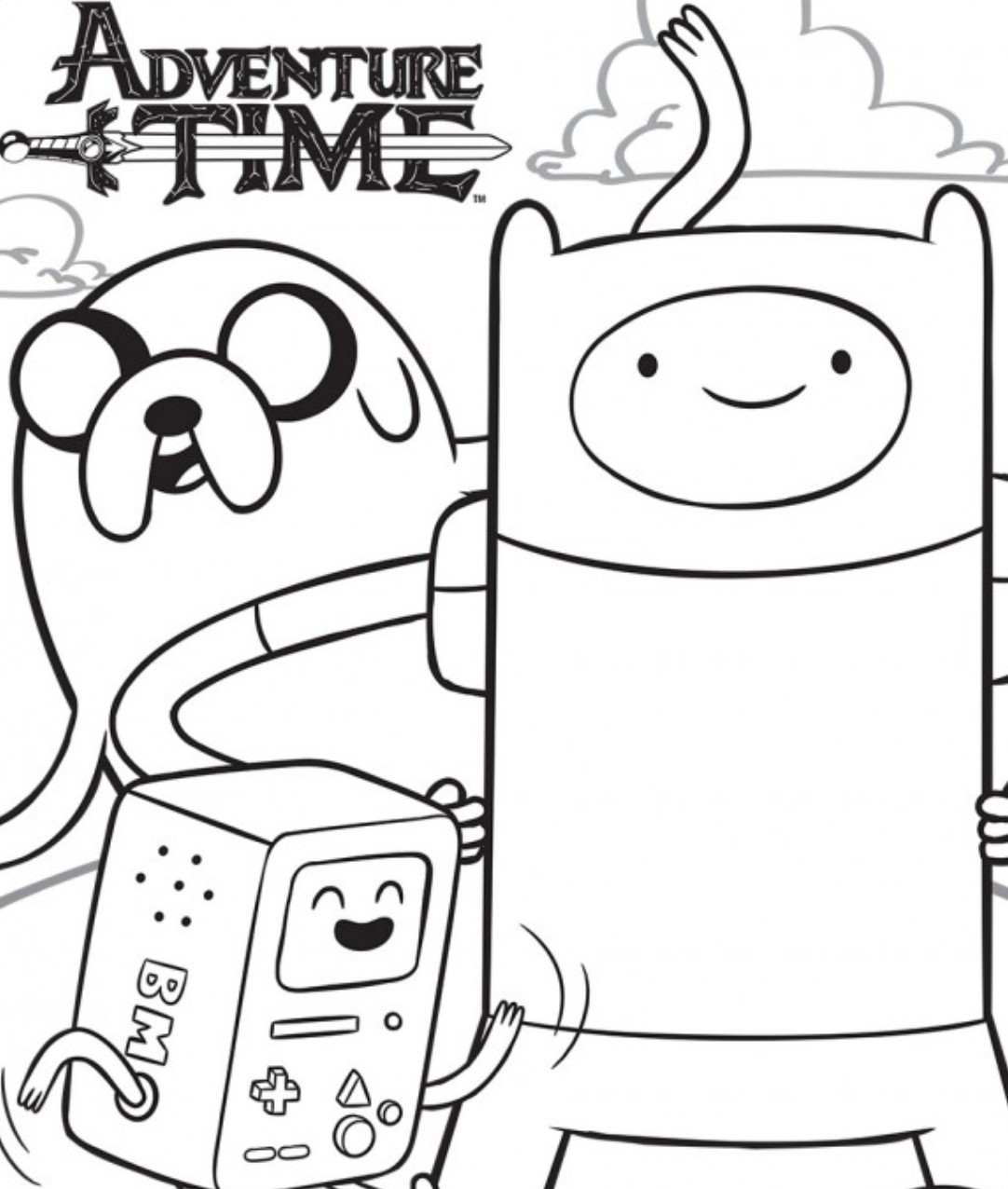 adventure time coloring pages - Printable Color Pages