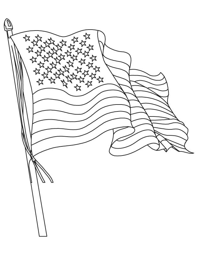 Line Drawing Usa : American flag coloring pages best for kids