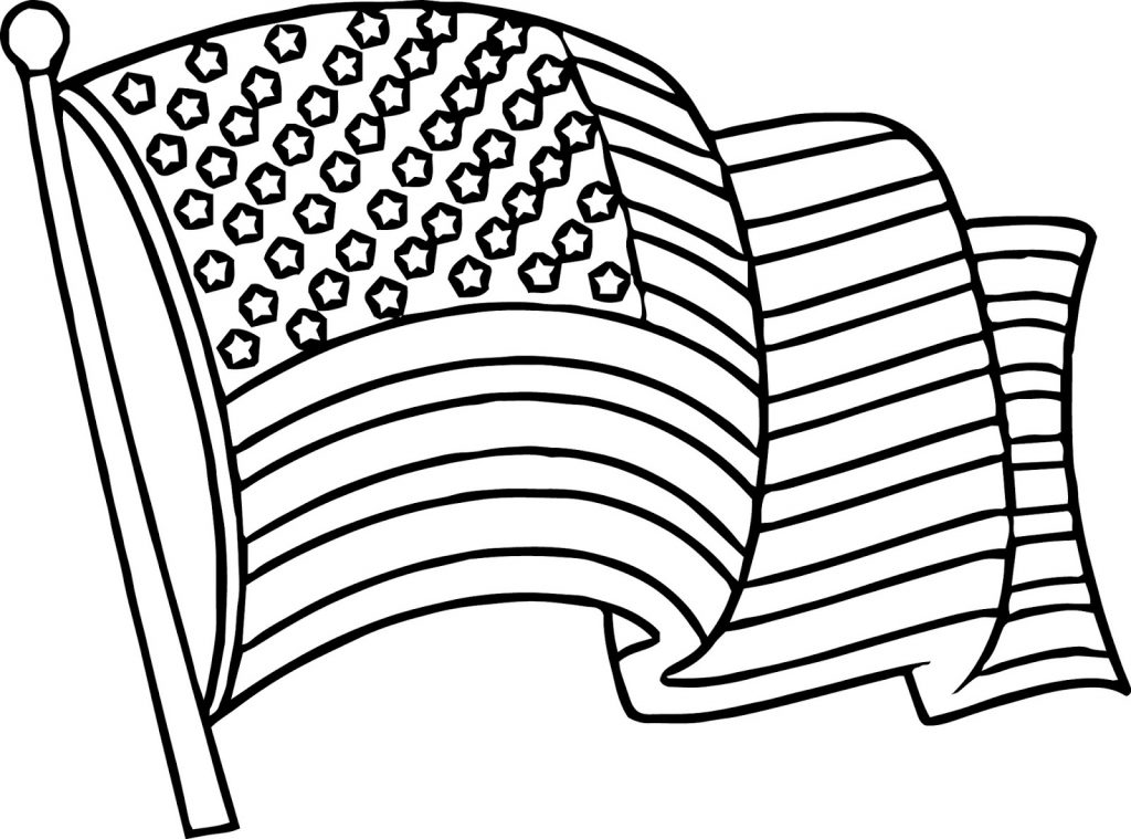 u s flag coloring pages - photo #18
