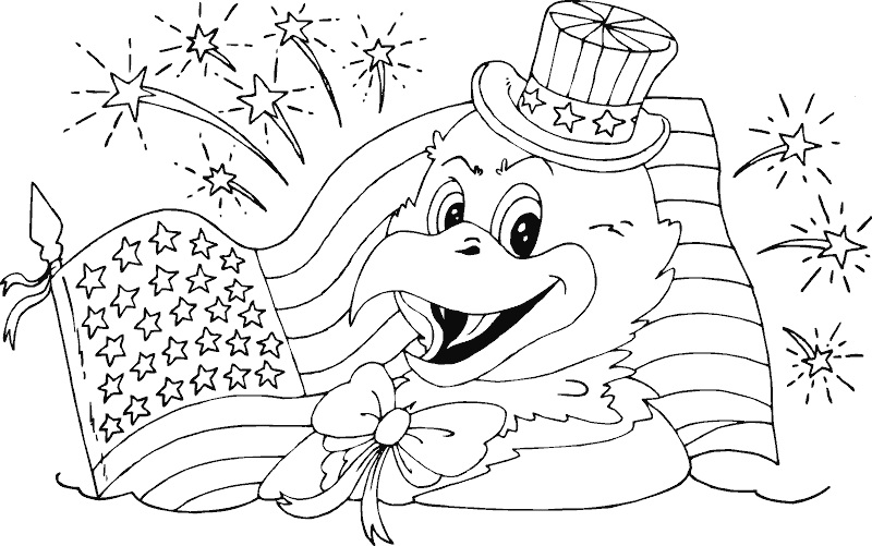 Download American Flag Coloring Pages