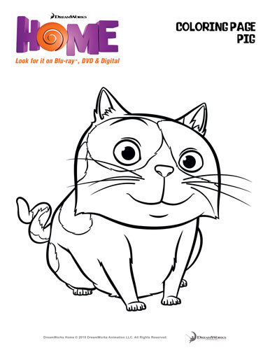 Dreamworks Home Coloring Page - Oh