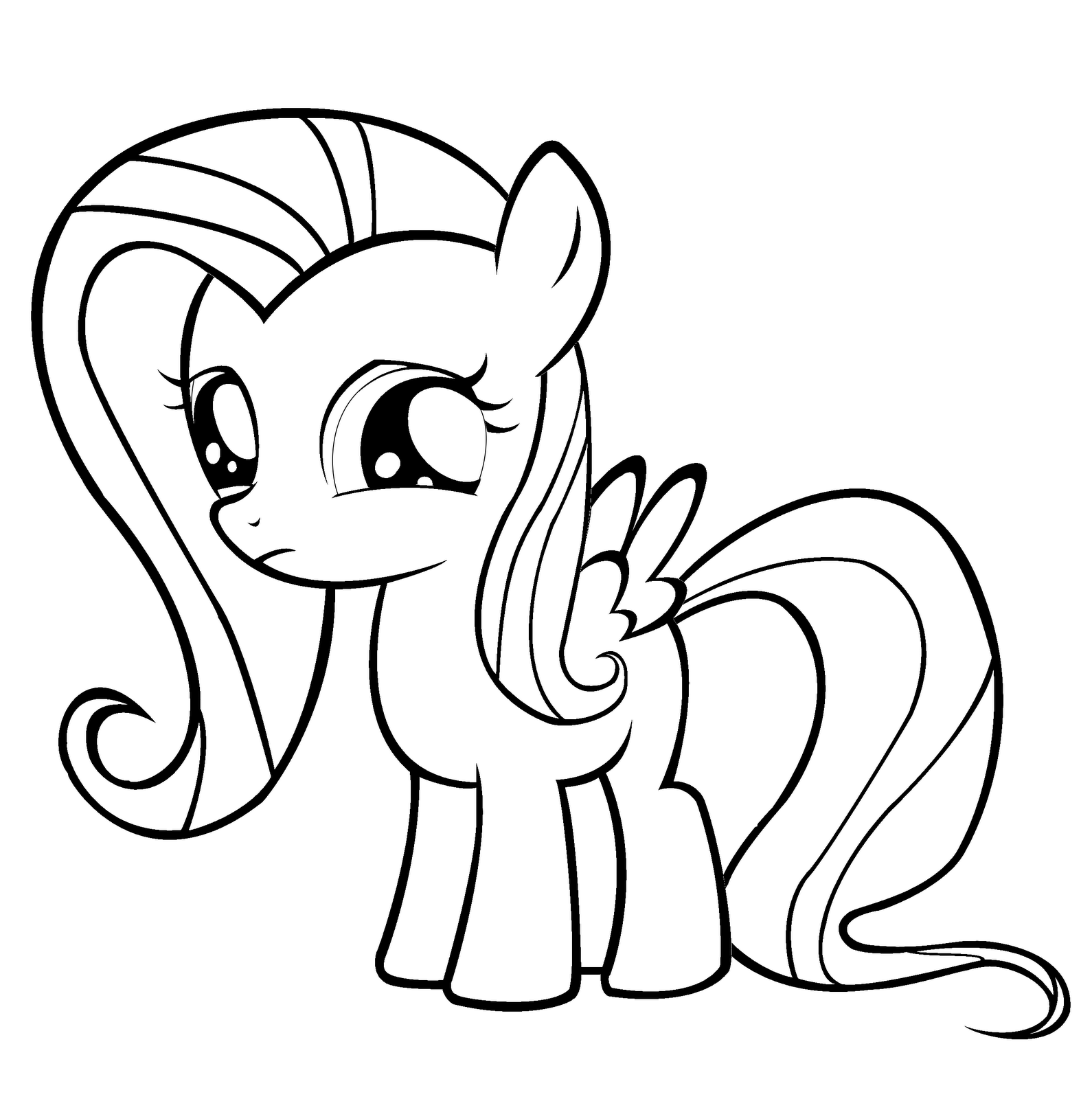 My Little Pony Names Coloring Pages : Fluttershy coloring pages best for kids
