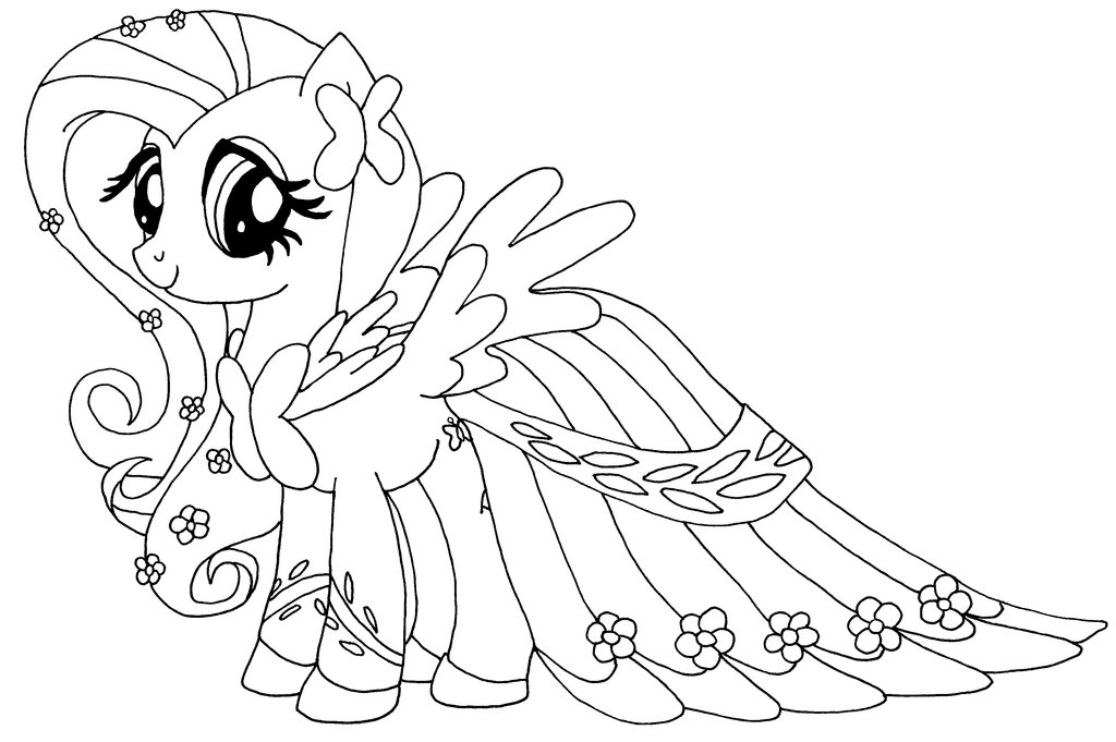 Fluttershy Coloring Pages Best Coloring Pages For Kids Fluttershy Coloring Page
