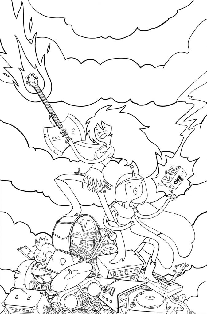 Free Adventure Time Coloring Pages