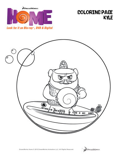 Free Dreamworks Home Coloring Pages