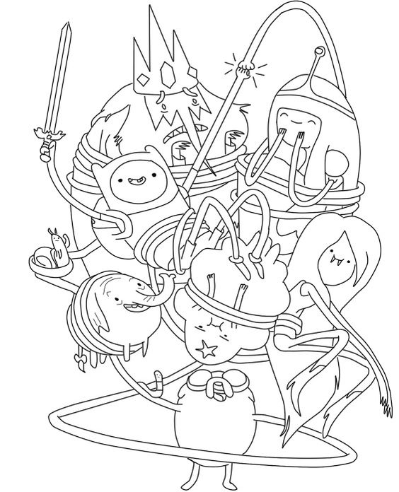 Free Printable Adventure Time Coloring Pages