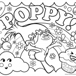 Free Trolls Poppy Coloring Page