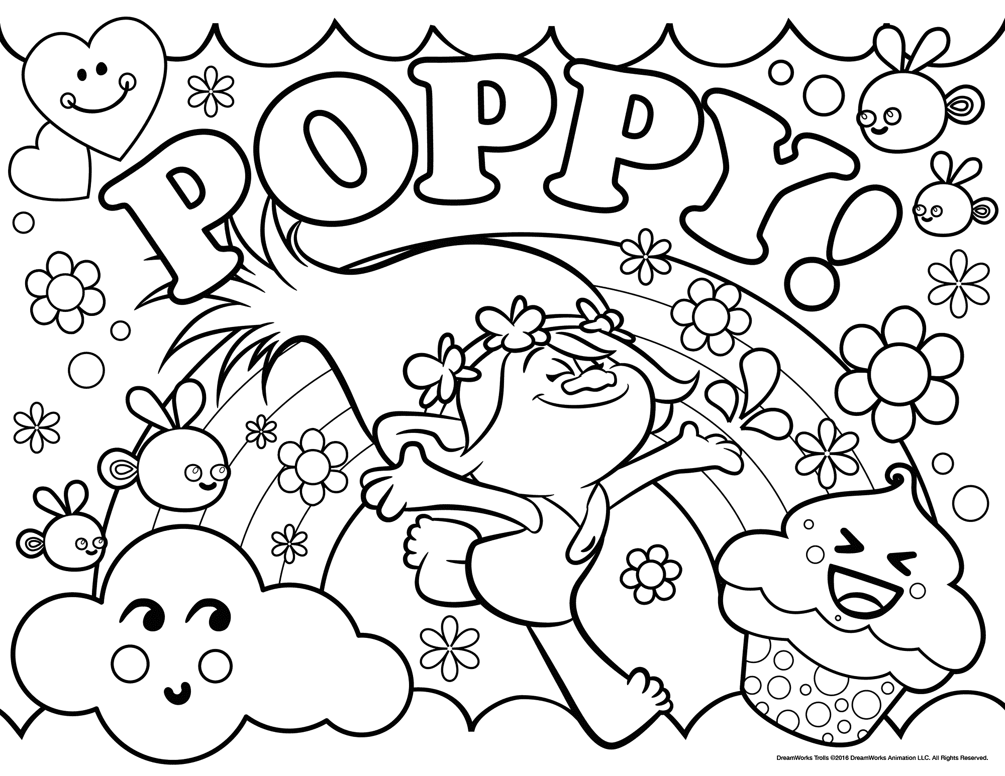 free troll coloring pages - photo#10