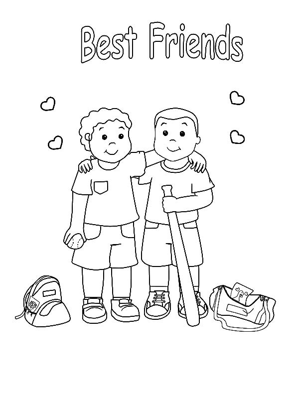 Friend Coloring Page Printable