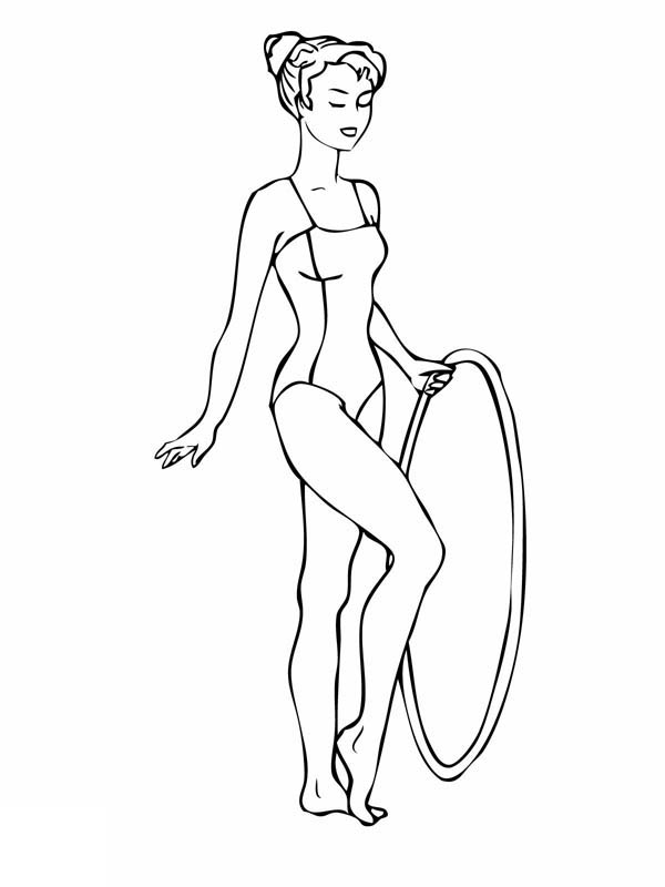 gymnastics coloring pages hoop