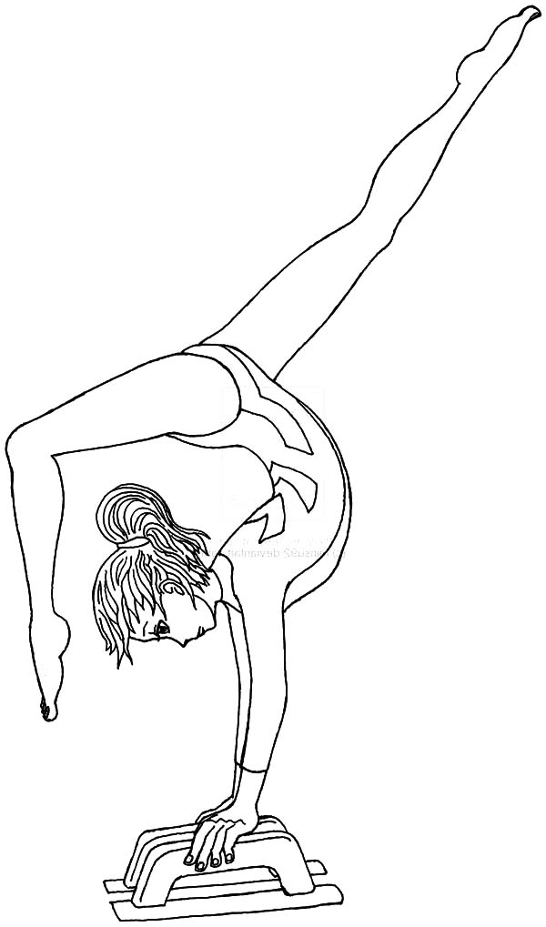 gymnasics coloring pages - photo#15
