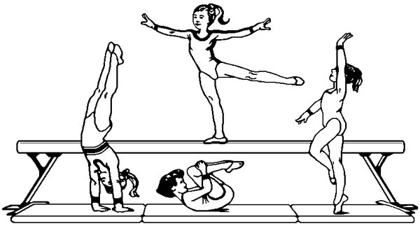 gymnastics coloring pages vault gymnastics printables