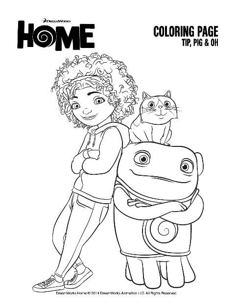 Home Coloring Pages Tip Pig and Oh