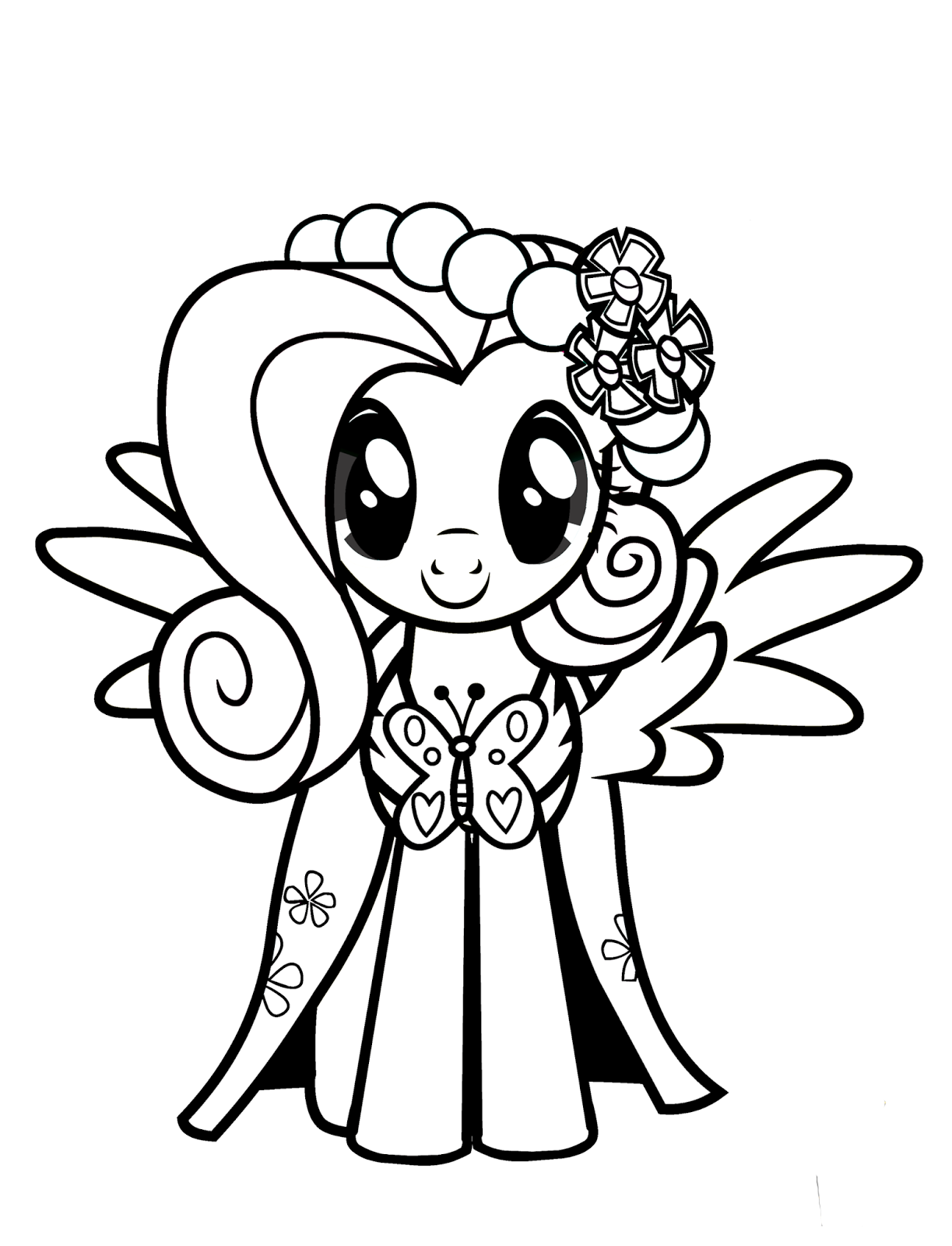 Coloring Pages My Little Pony The Movie : Fluttershy coloring pages best for kids