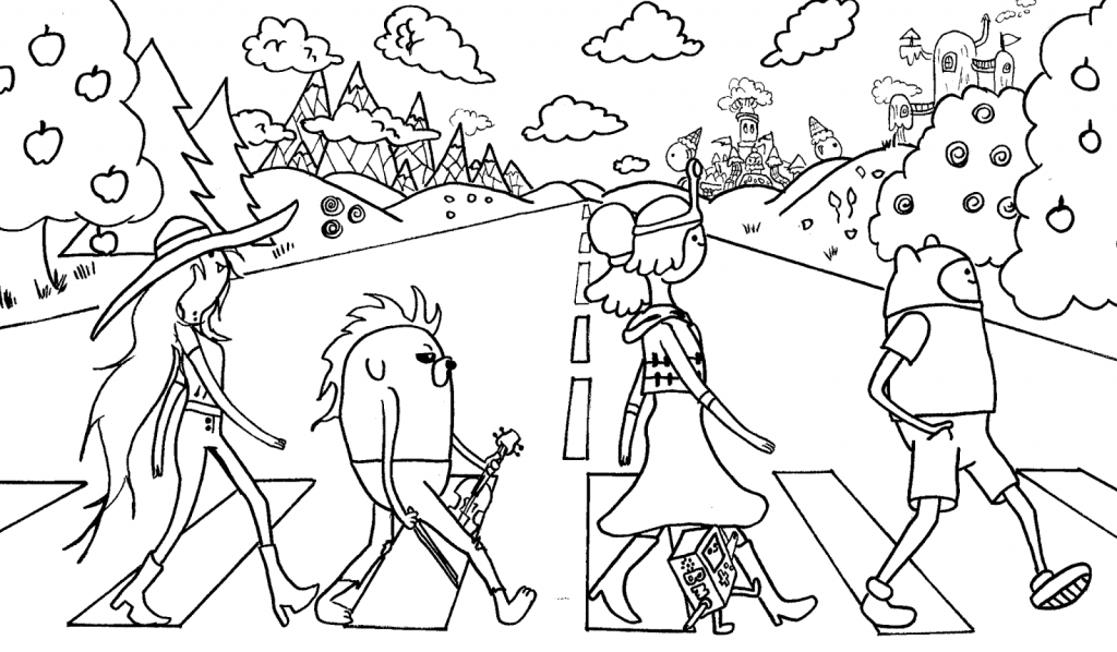 Print Free Adventure Time Coloring Pages